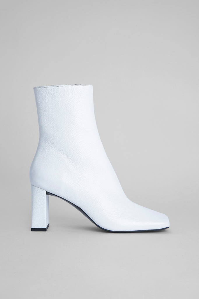 Celine White Grained Leather