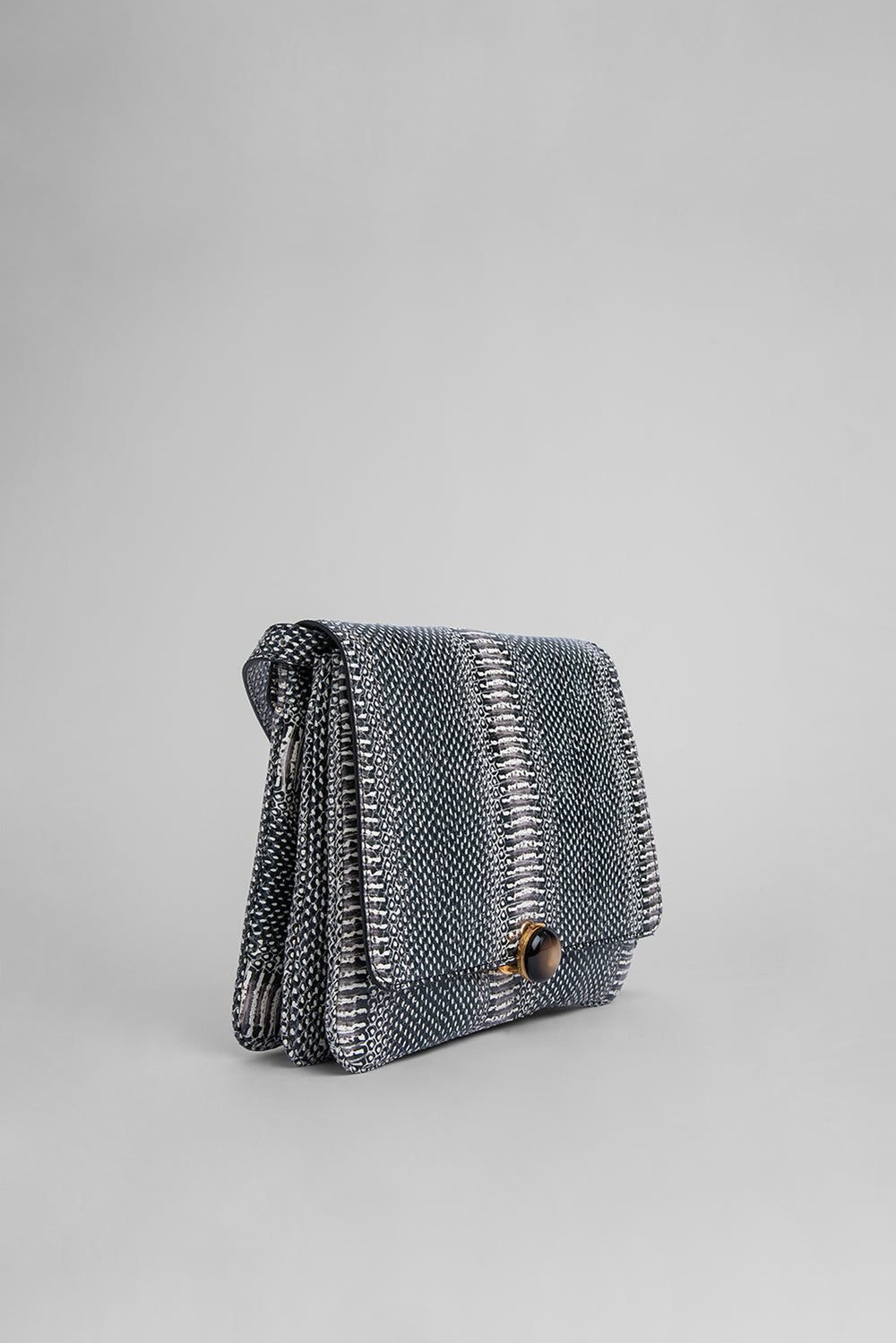 Margot Graphic Snake Print Leather