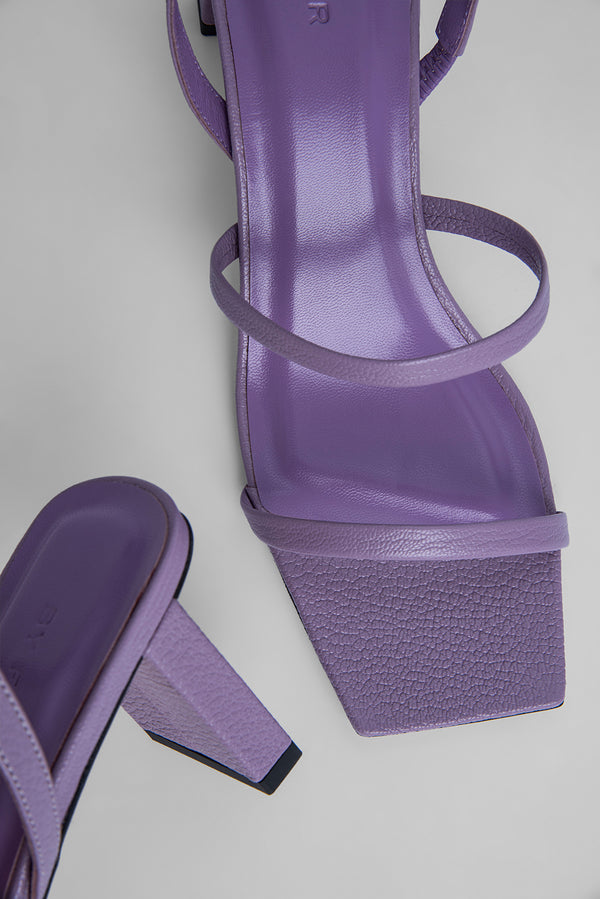 Liu Lilac Grained Leather