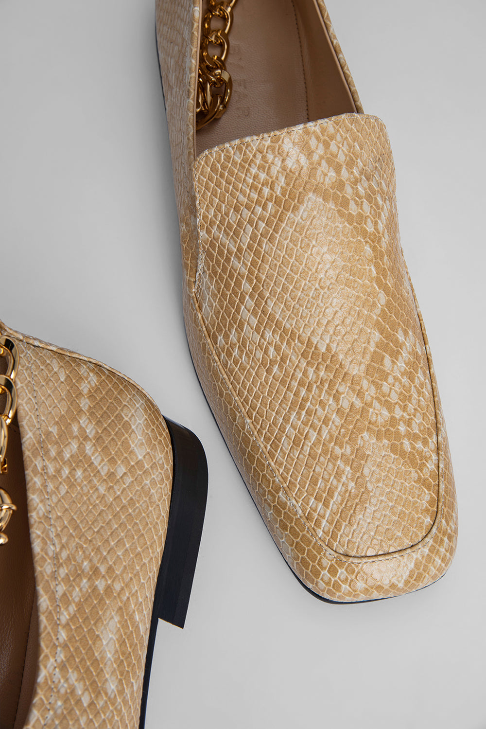 Nick Blonde Snake Print Leather