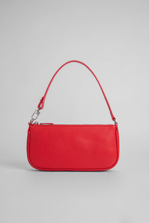 Rachel Red Grained Leather