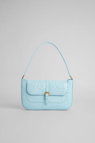 Miranda Ice Circular Croco Embossed Leather