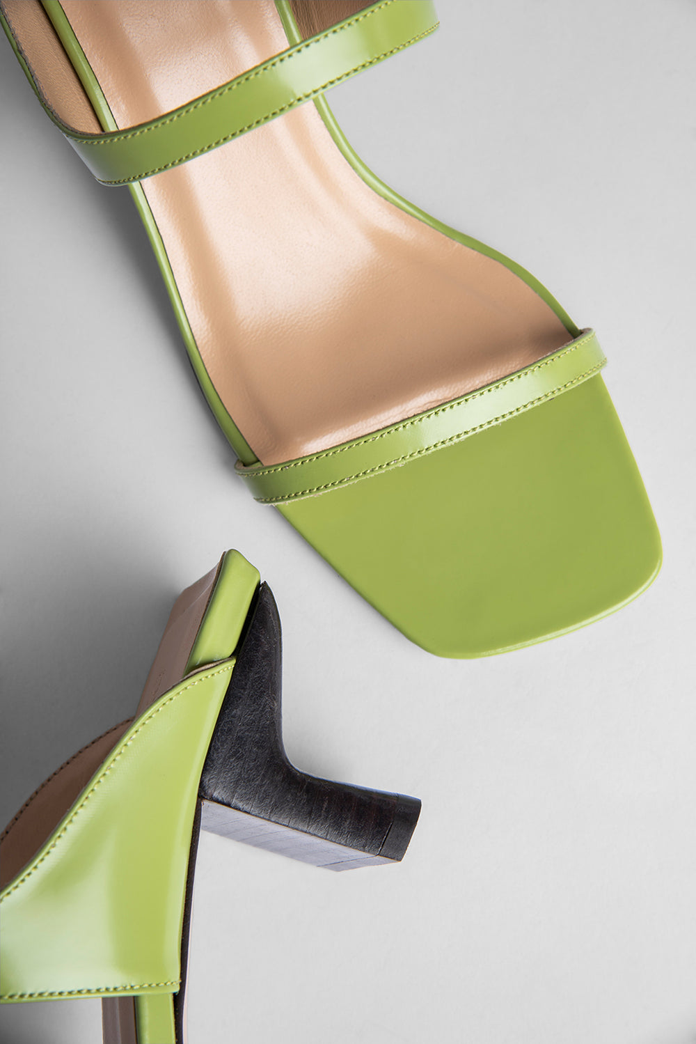 Paola Lime Green Semi Patent Leather