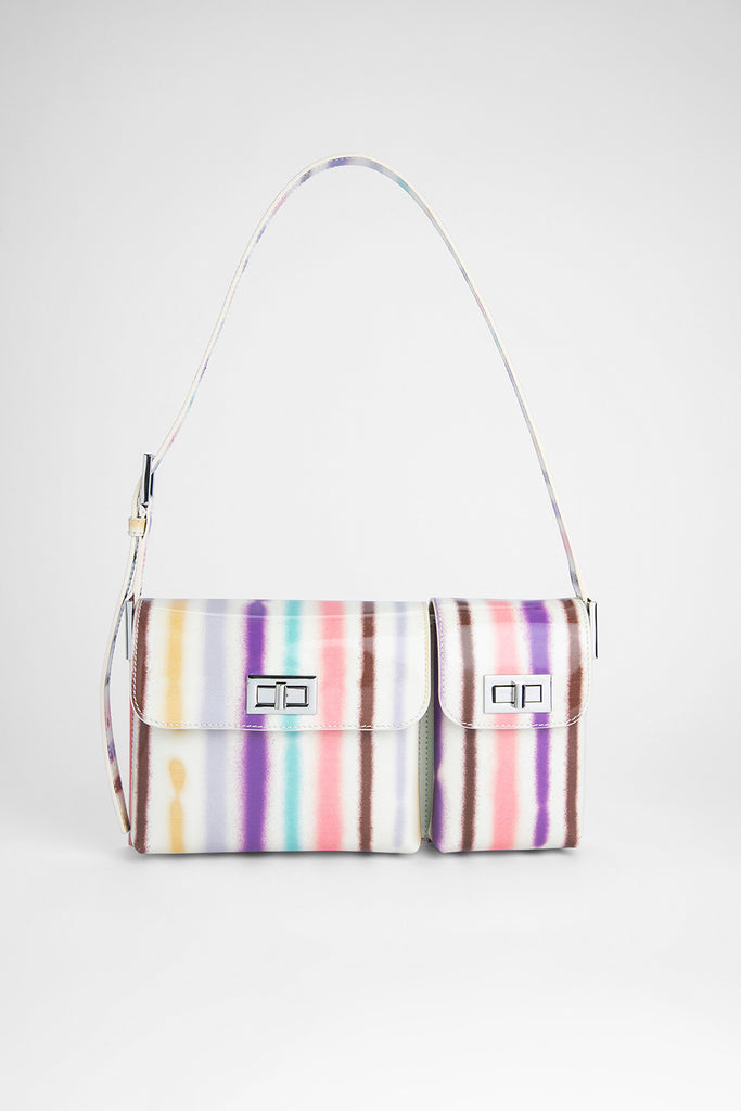 Billy Ivory Spray Print Leather