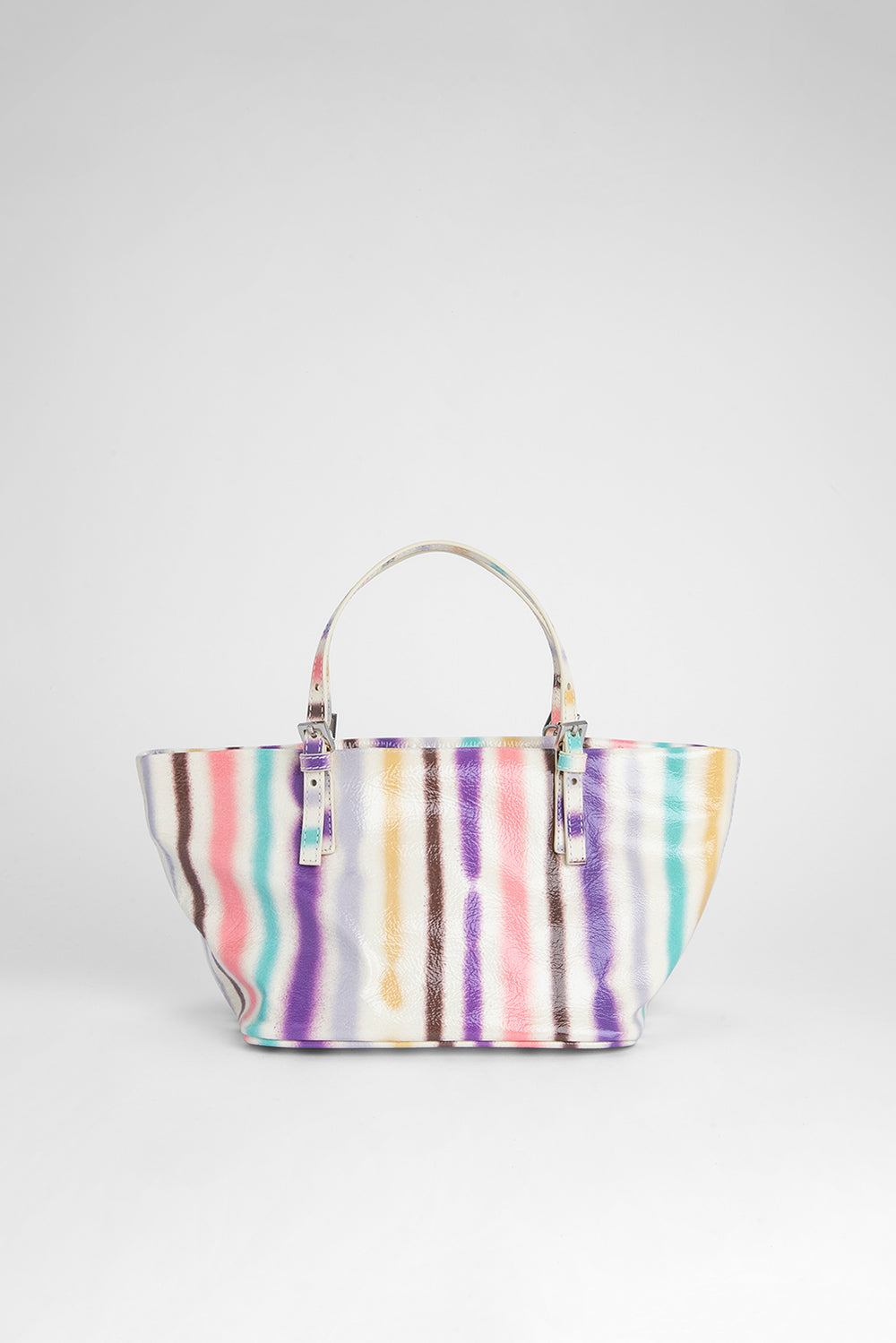 Lulu Ivory Spray Print Leather
