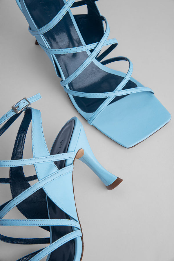 Christina Baby Blue Leather