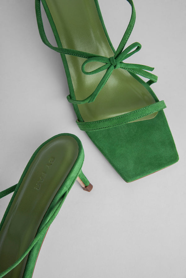 January Green Suede Leather