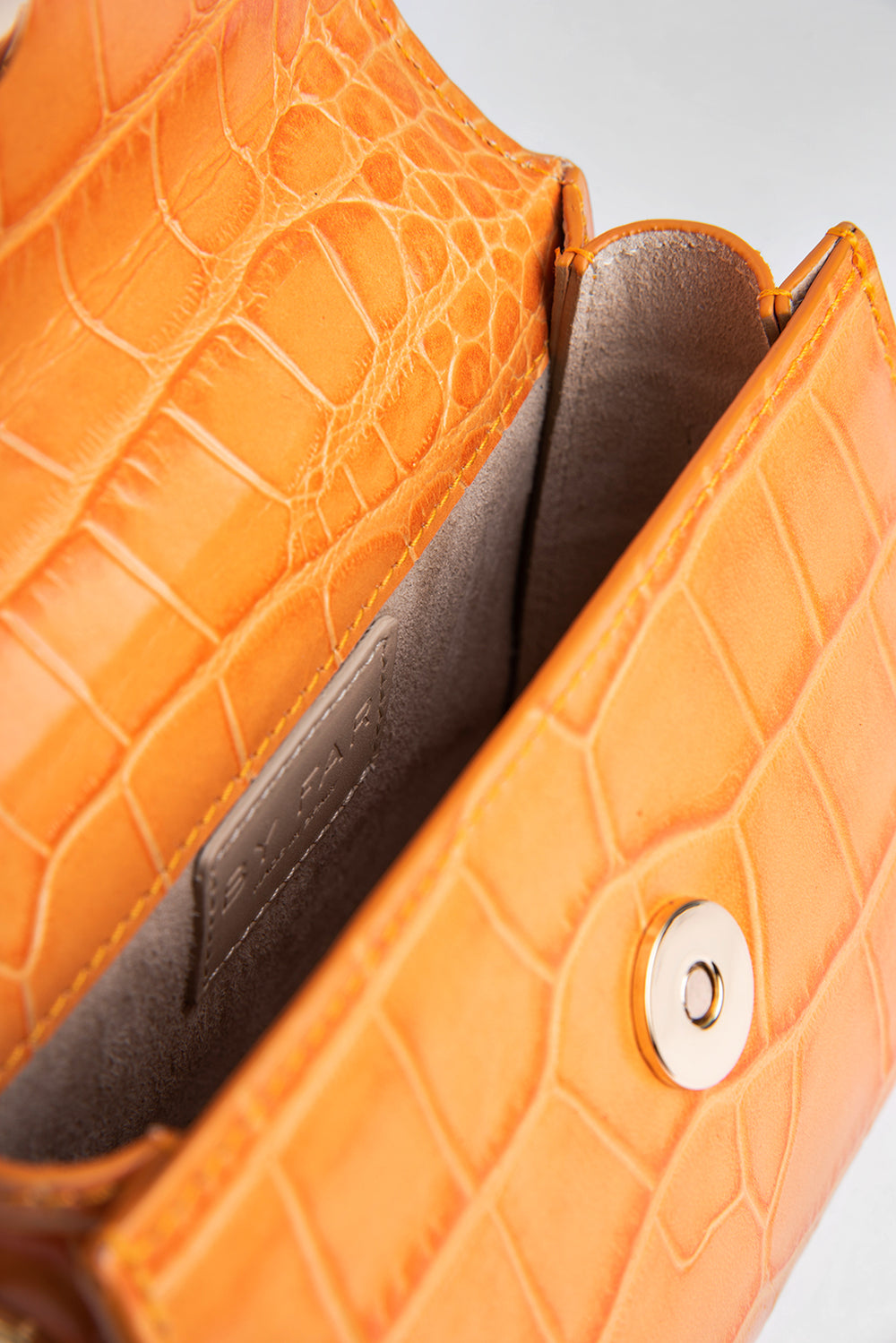 Mini Solar Croco Embossed Leather