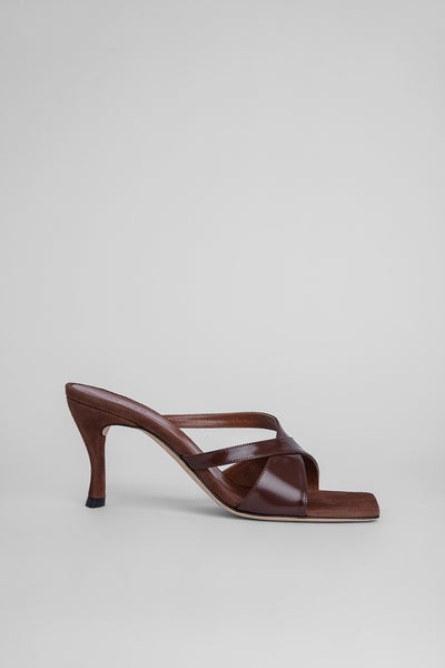 Kitty Dark Brown Semi Patent Leather