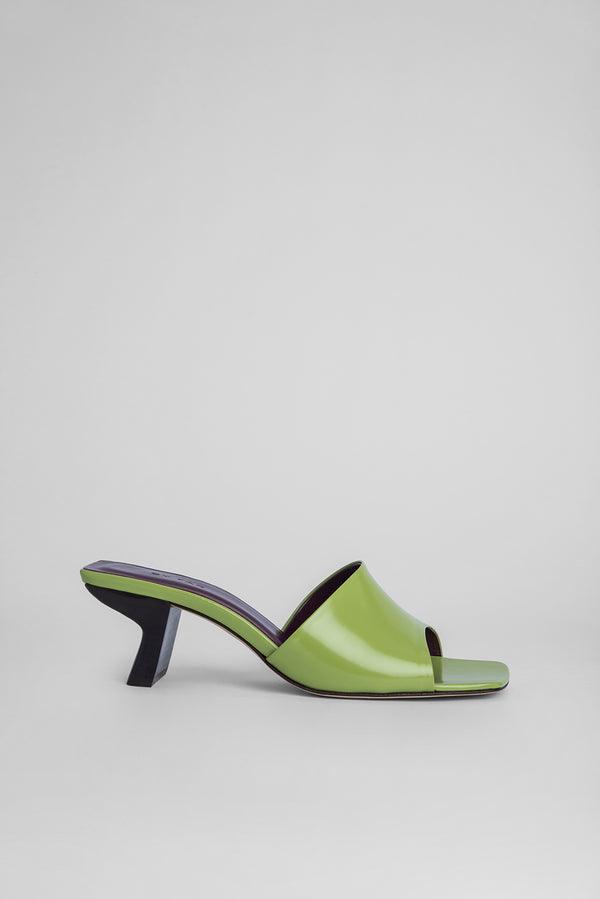 Lily Lime Green Semi Patent Leather