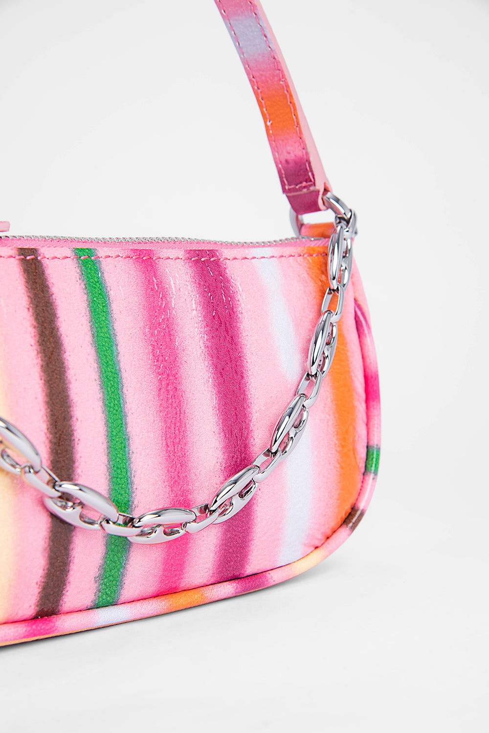 Mini Rachel Pink Spray Print Leather