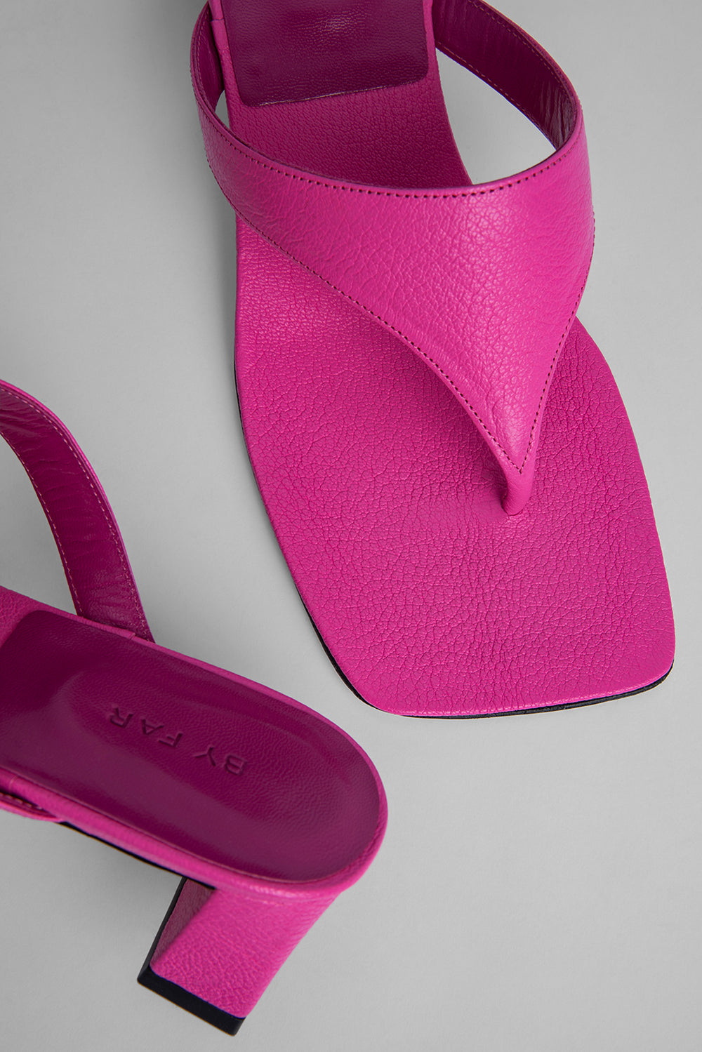 Shawn Hot Pink Grained Leather