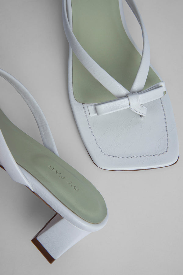 Bibi White Gloss Leather