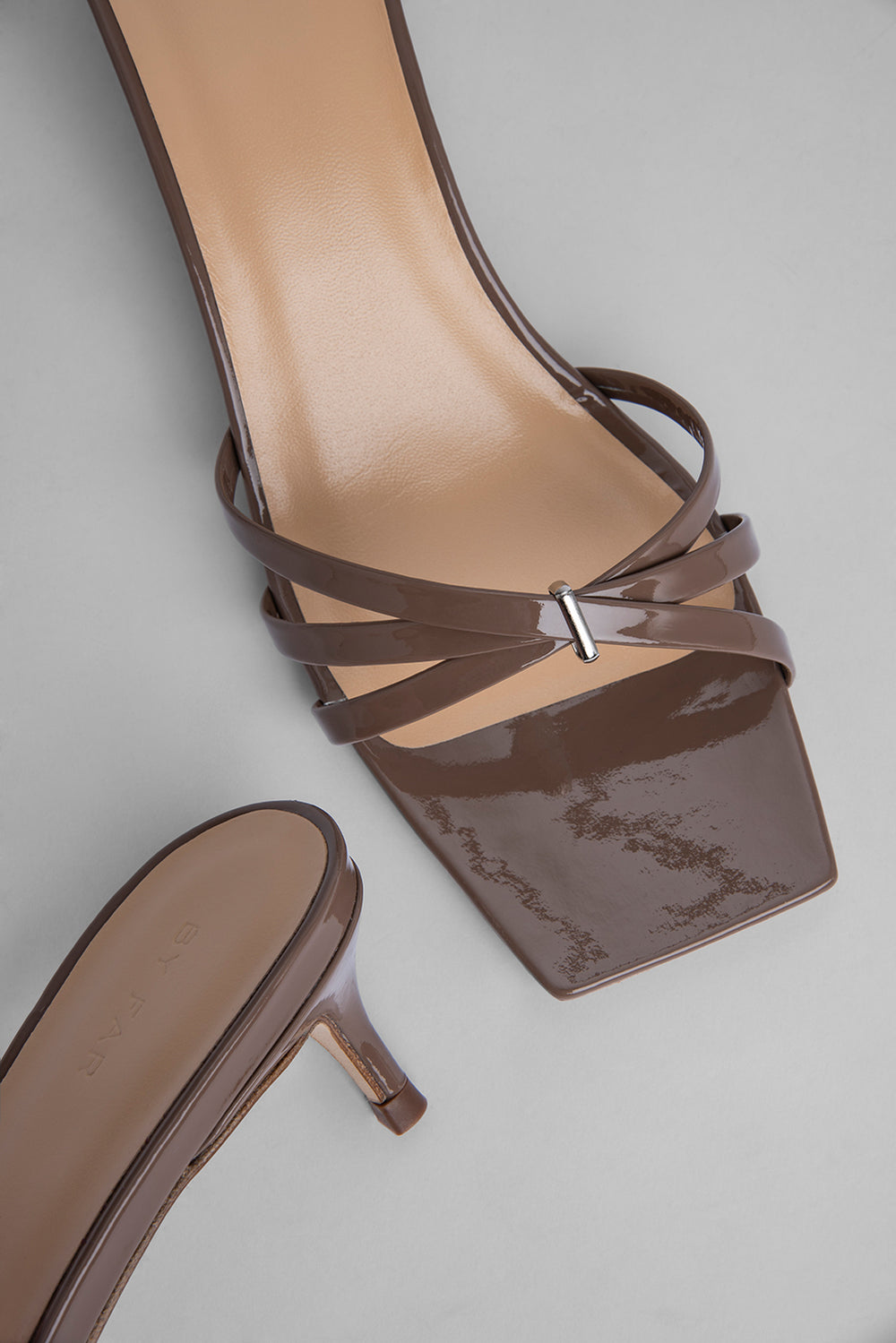 Libra Taupe Patent Leather