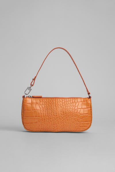 Rachel Solar Croco Embossed Leather
