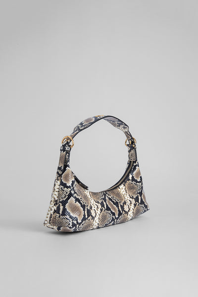 Mara Snake Print Leather