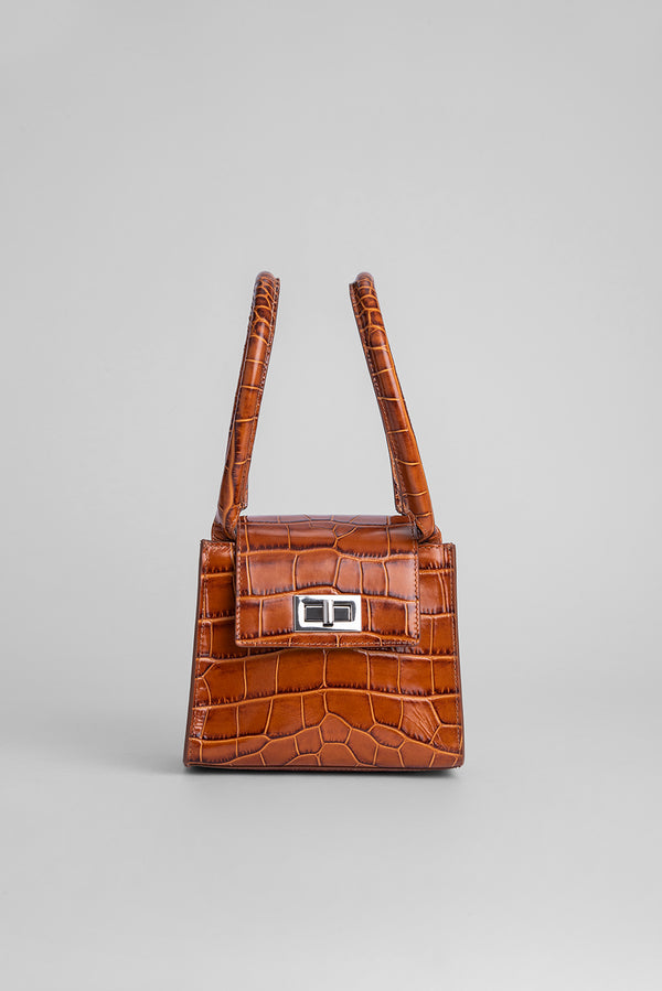 Sabrina Tan Croco Embossed Leather