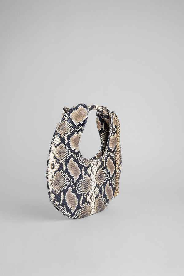 Lune Snake Print Leather