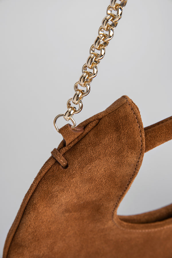 Lune Brown Suede Leather