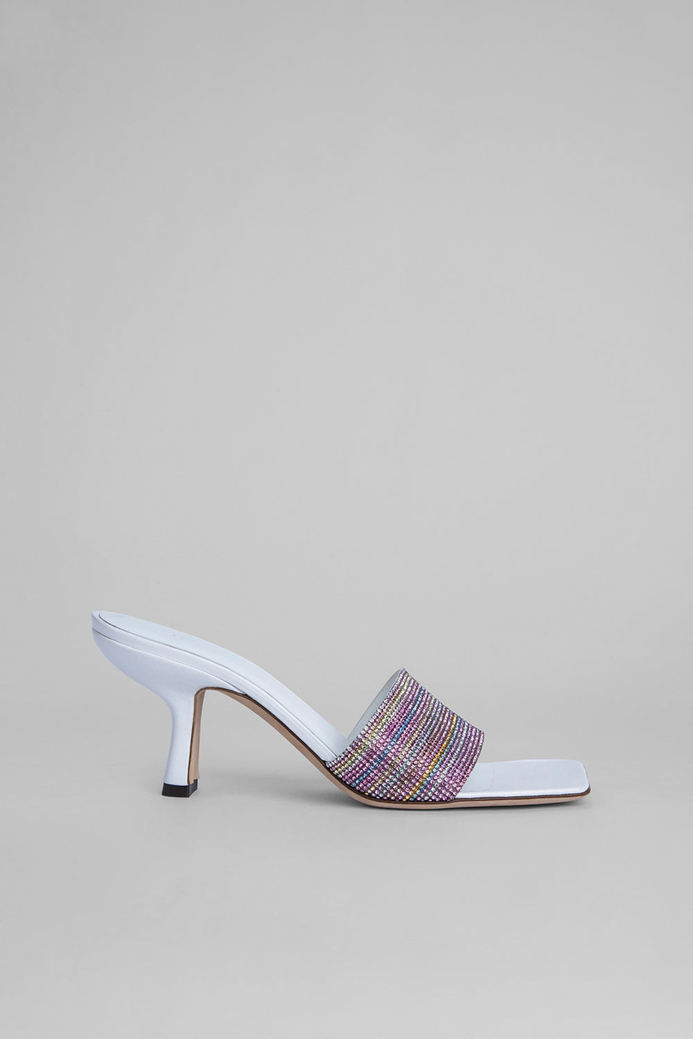 Dylan White Nappa Leather and Crystals