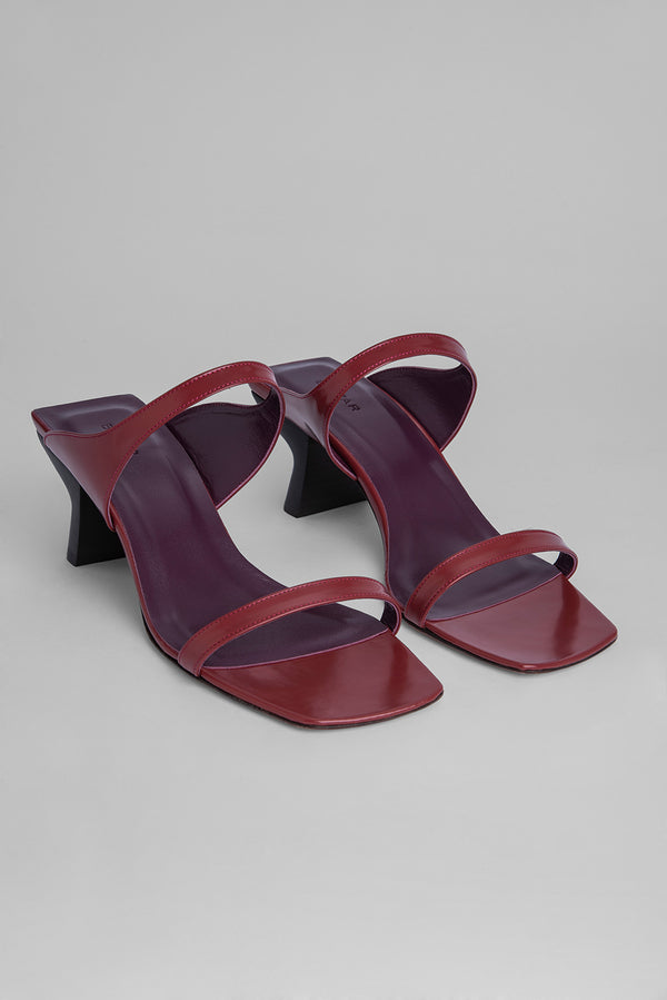 Paola Red Semi Patent Leather