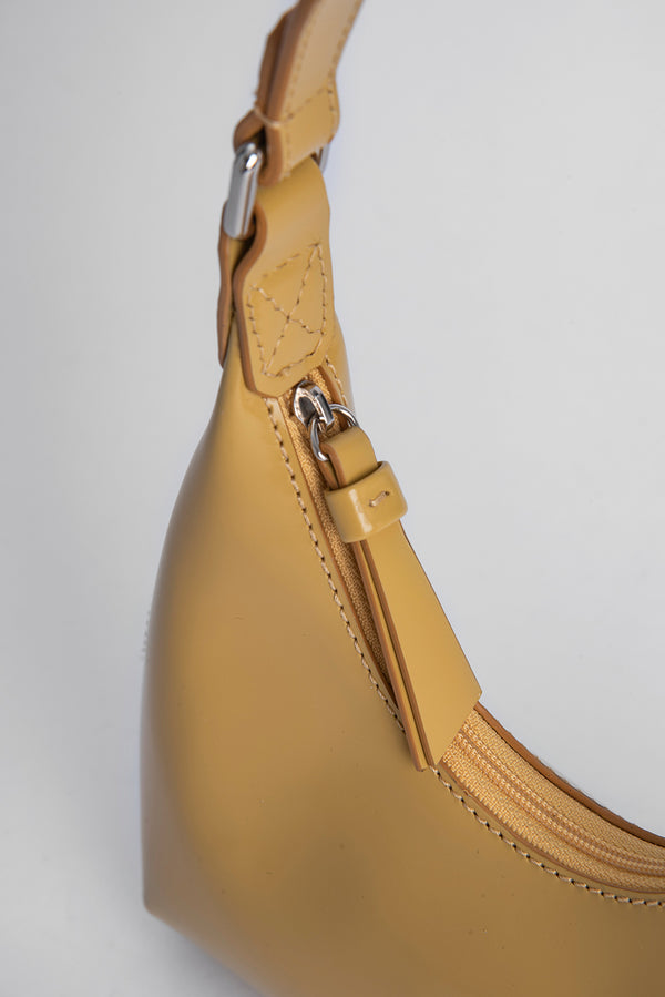Baby Amber Yellow Semi Patent Leather