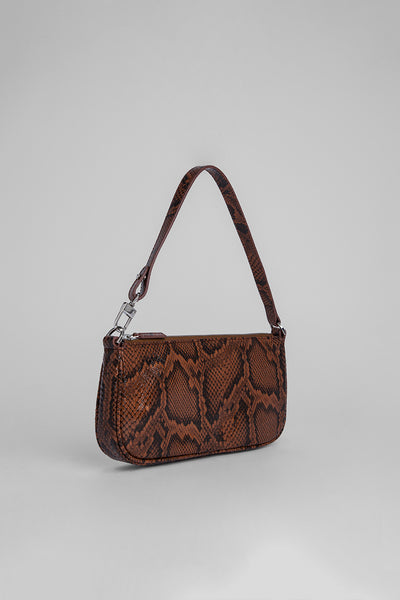 Rachel Brown Snake Print Leather