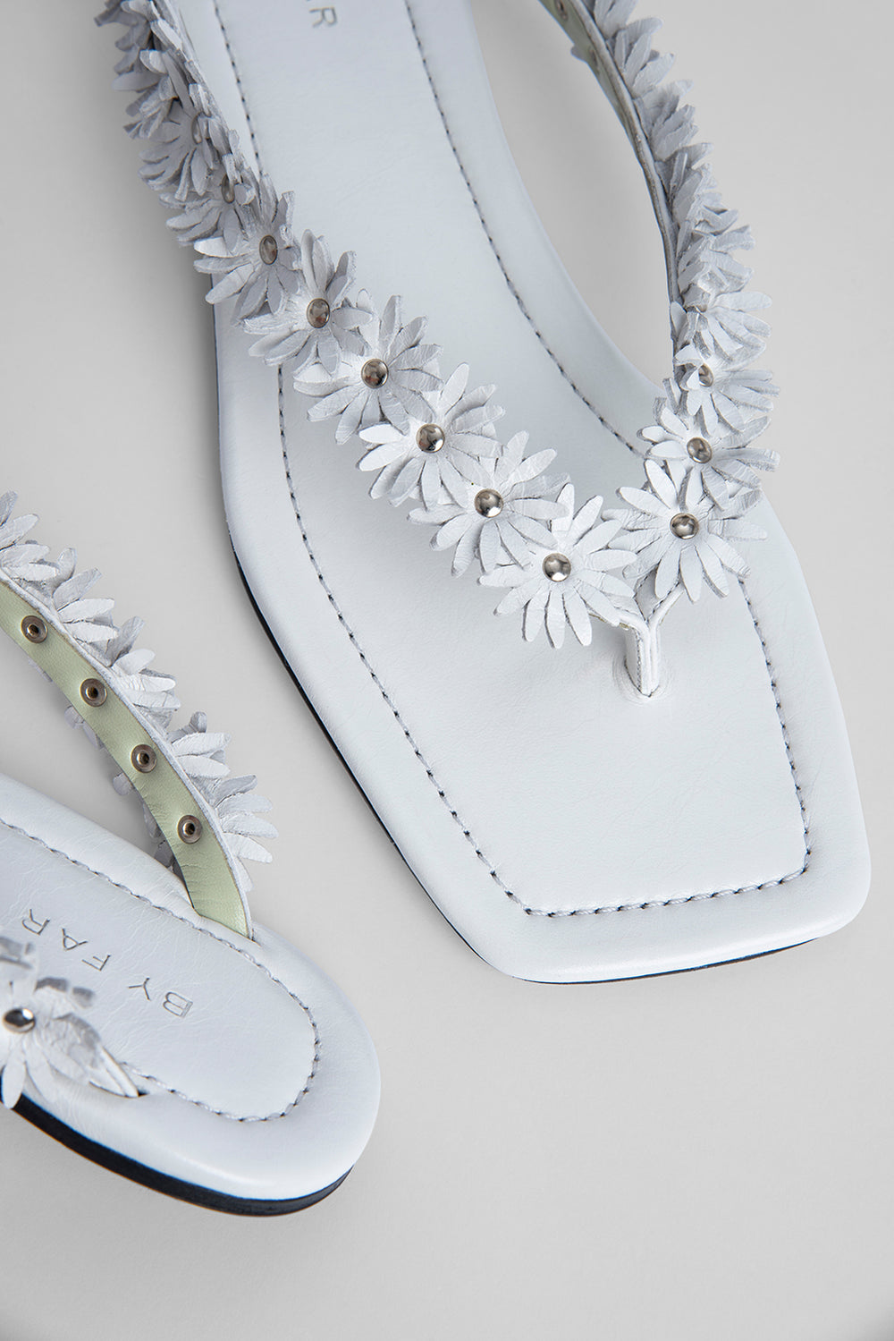Gita White Gloss Leather