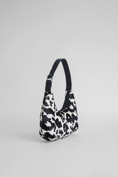 Baby Amber Cow-Print Pony Hair Leather