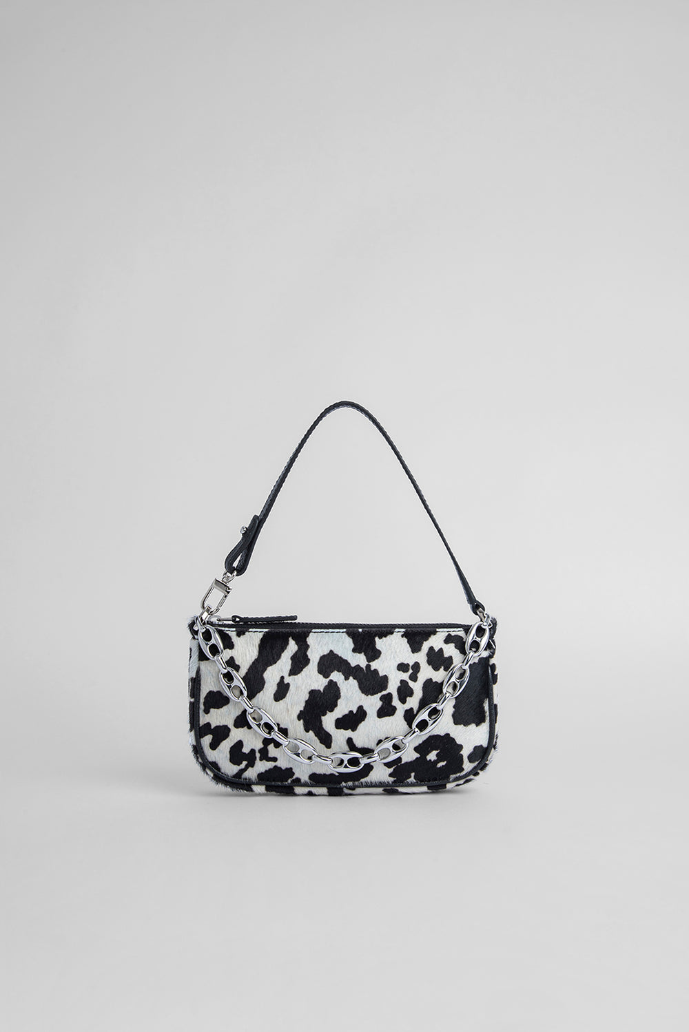 Mini Rachel Cow-Print Pony Hair Leather