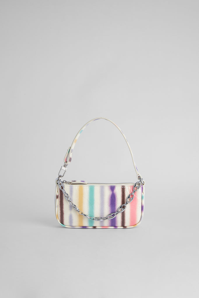 Mini Rachel Ivory Spray Print Leather