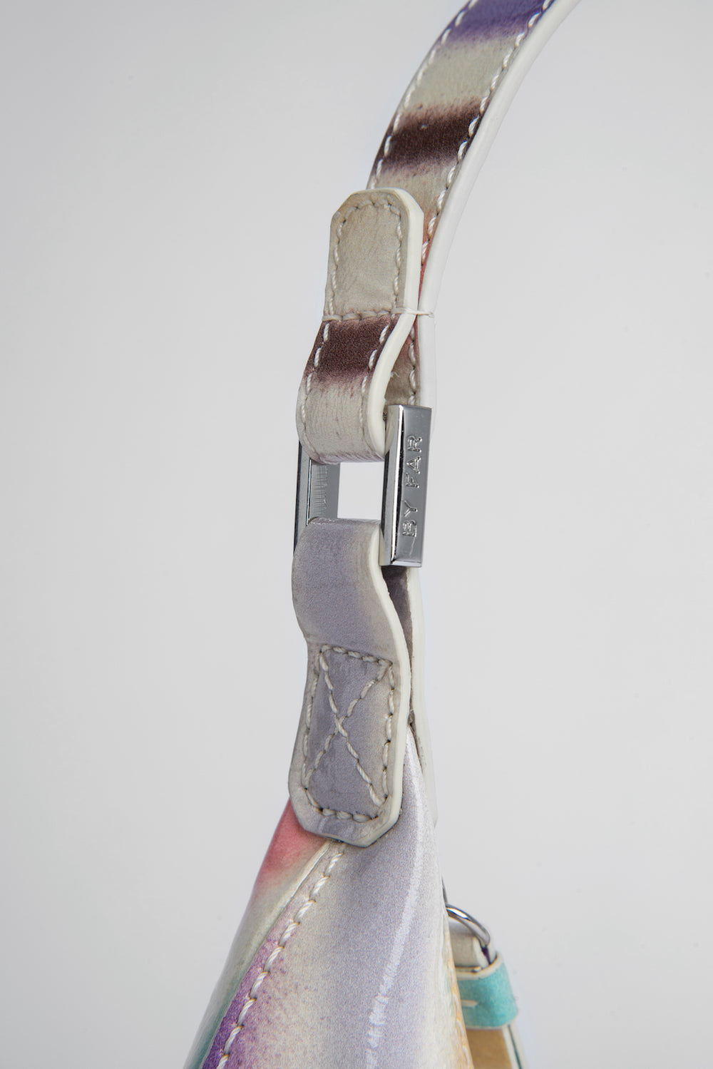 Baby Amber Ivory Spray Print Leather