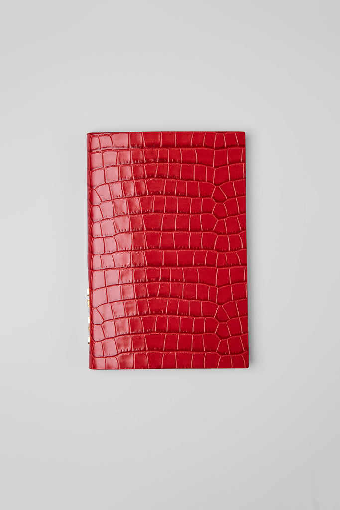 Notebook Pomodoro Croco Embossed Leather