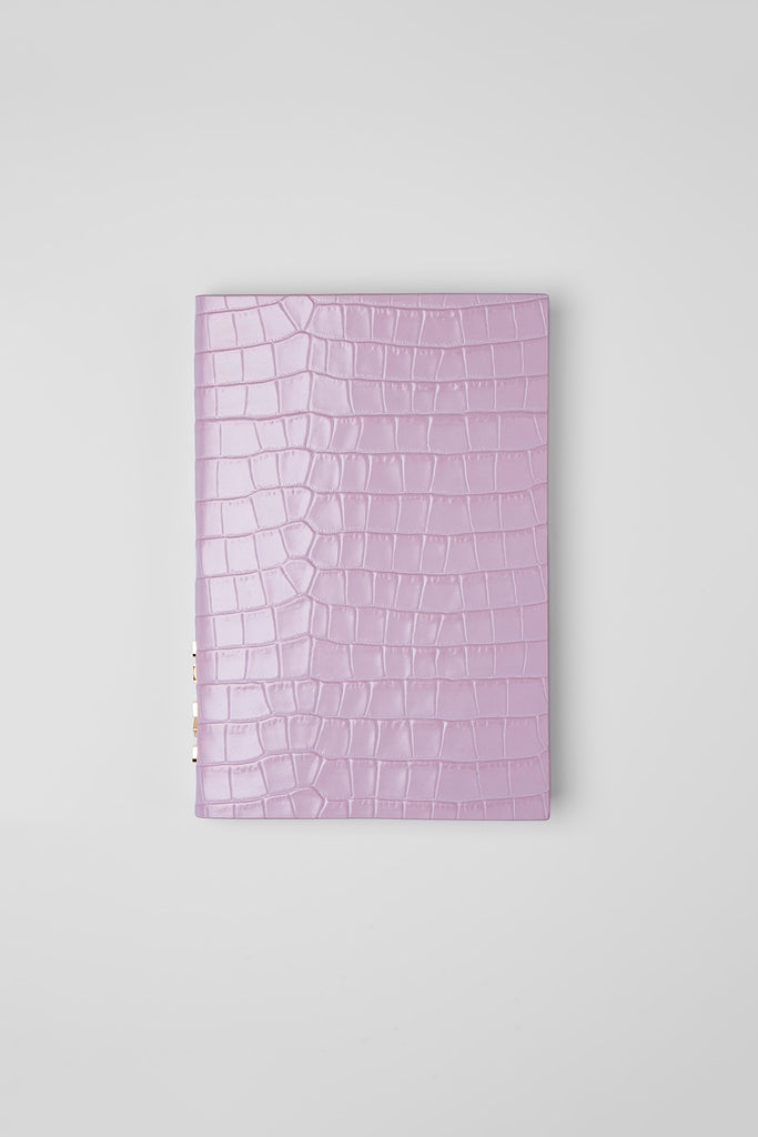 Notebook Pink Croco Embossed Leather