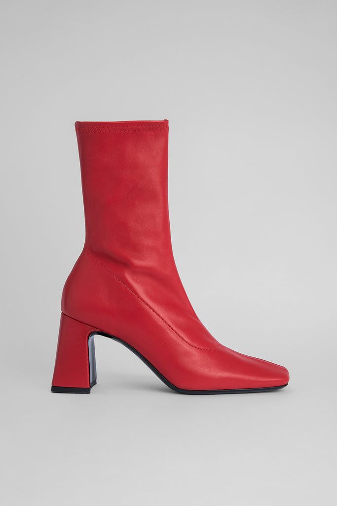 Philip Red Stretch Leather