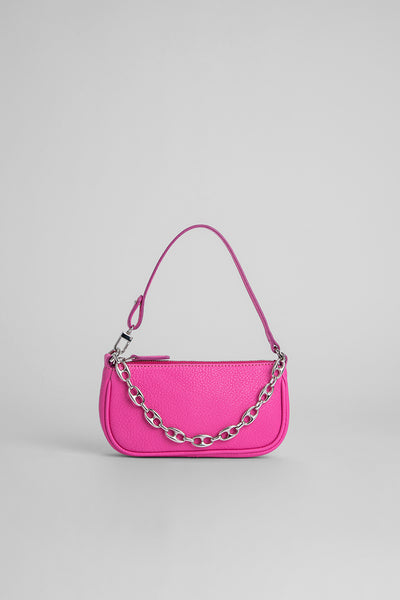 Mini Rachel Hot Pink Grained Leather