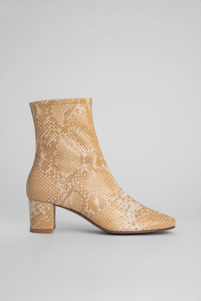 Sofia Blonde Snake Print Leather