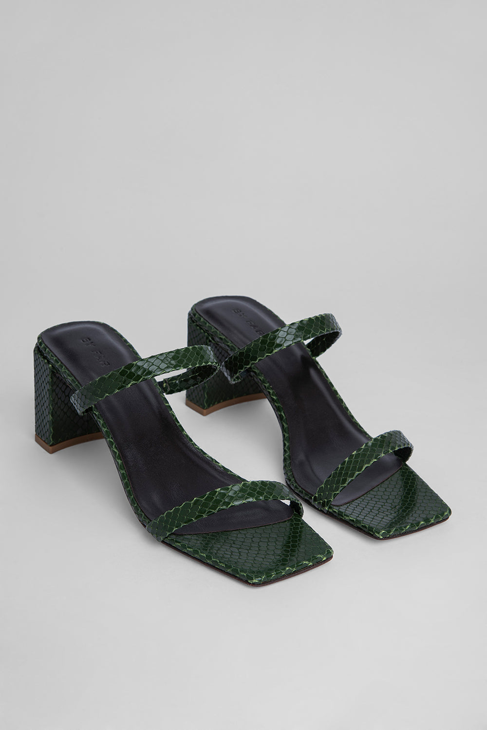 Tanya Emerald Snake Print Leather