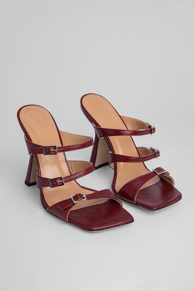 Malene Bordeaux Creased Leather