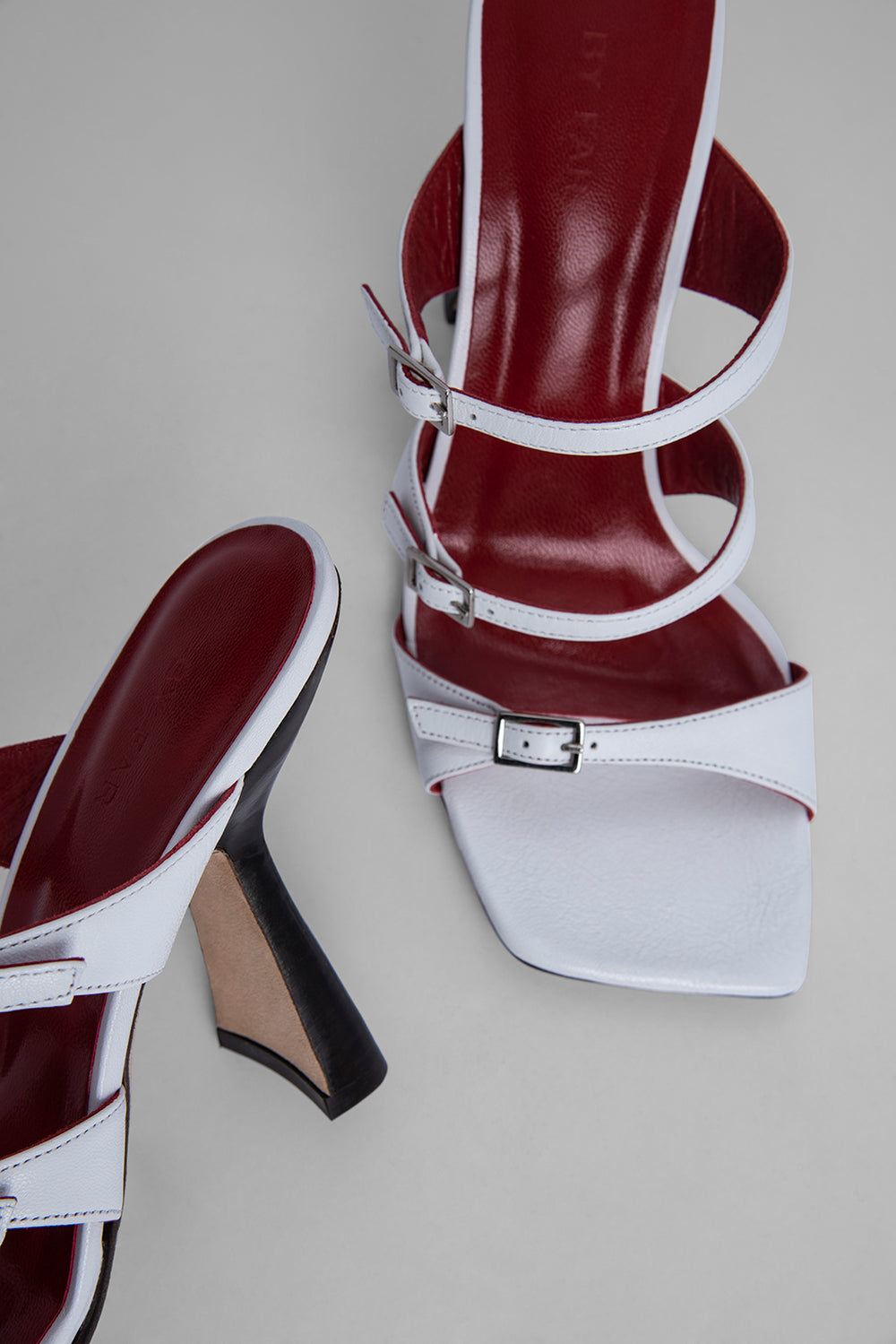 Malene White Nappa Leather