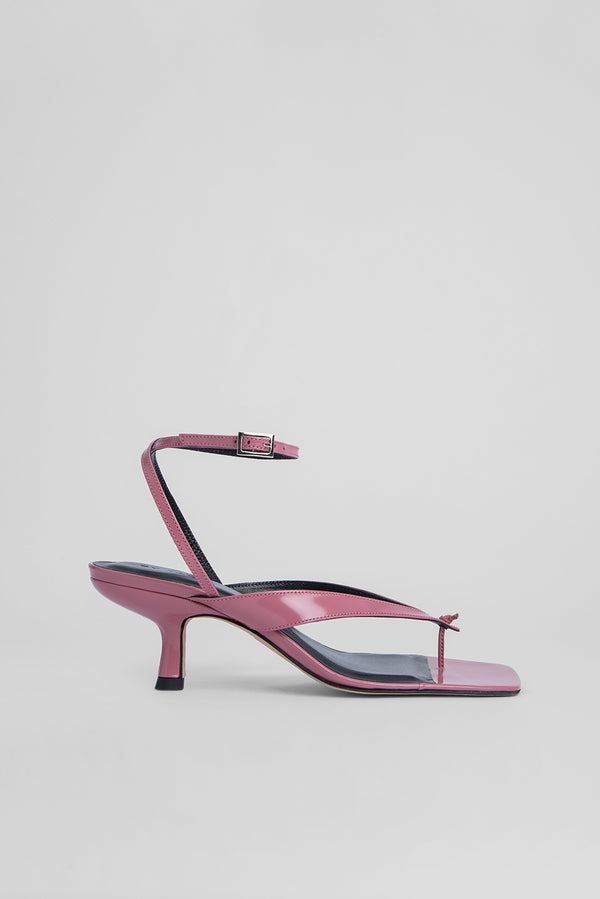 Mindy Pink Semi Patent Leather by By Far