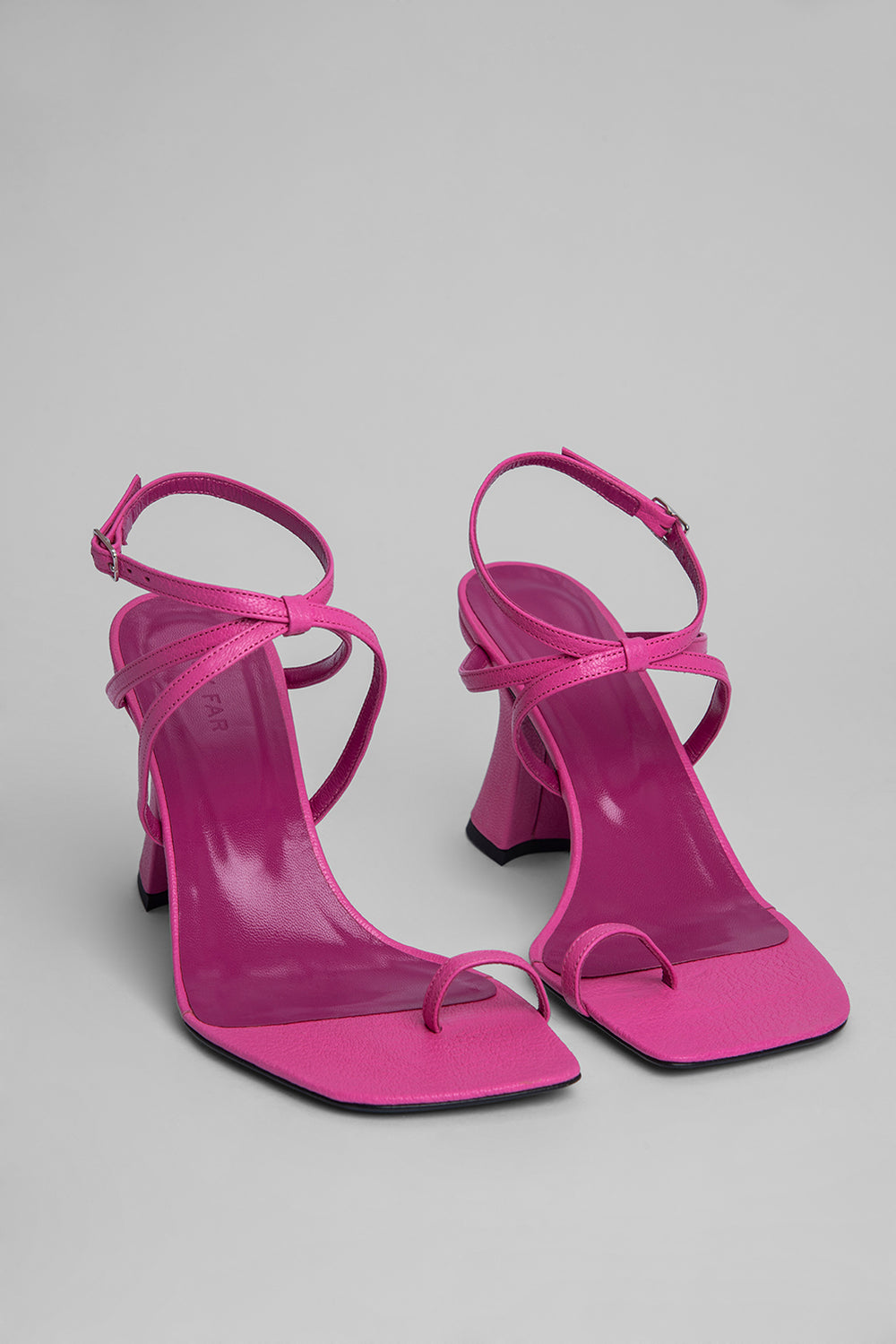Elsa Hot Pink Grained Leather
