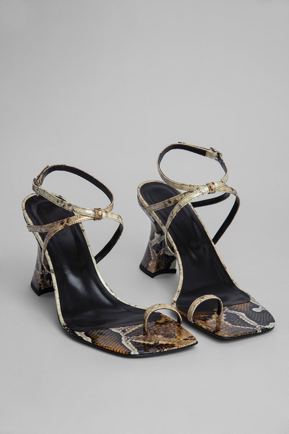 Elsa Snake Print Patent Leather
