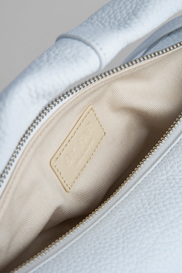 Cush White Flat Grain Leather