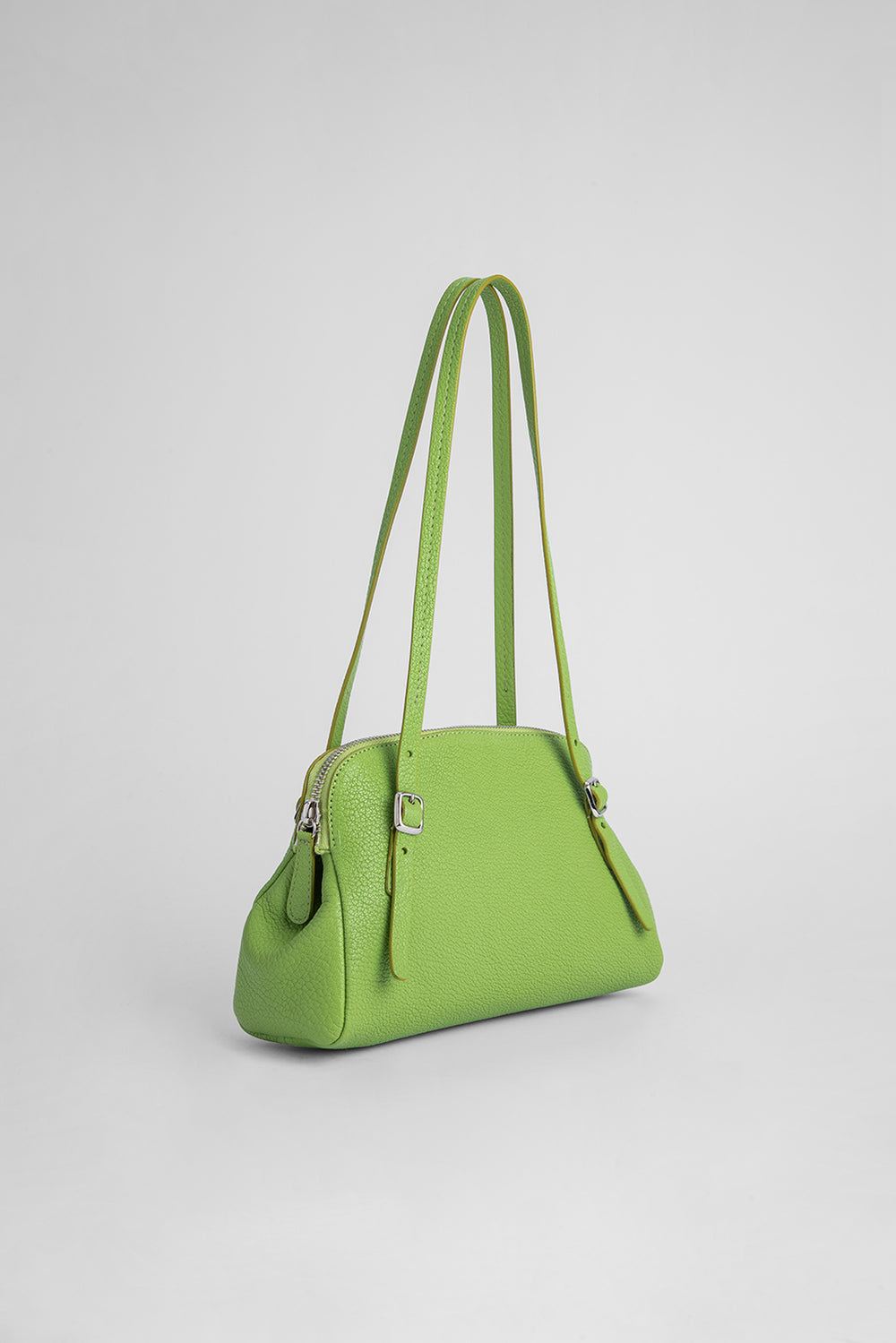 Lora Pistachio Grained Leather