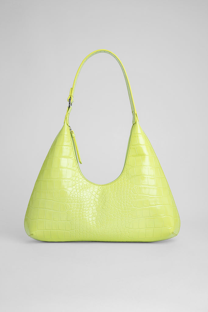Amber Matcha Croco Embossed Leather