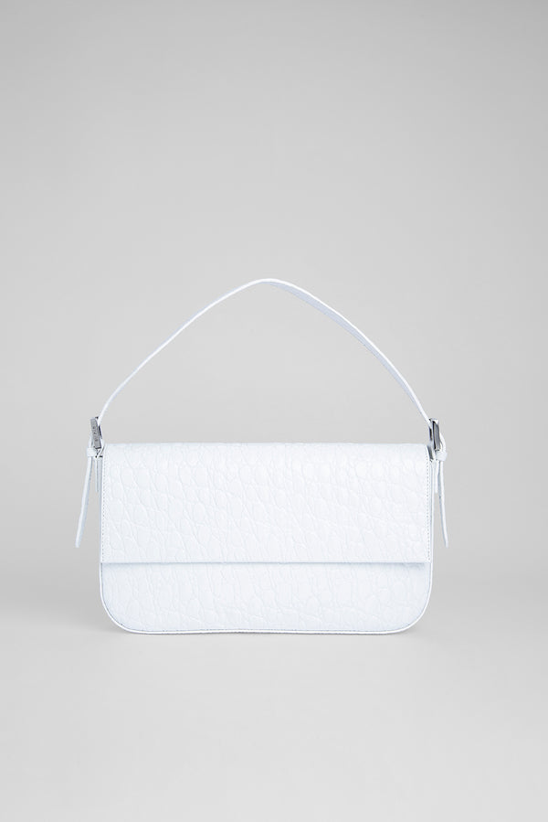 Manu Optic White Circular Croco Embossed Leather
