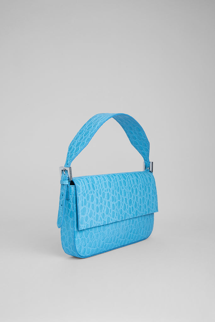 Manu Lagoon Circular Croco Embossed Leather