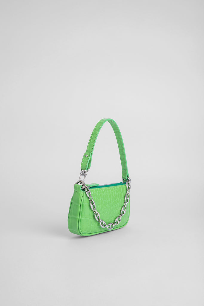 Mini Rachel Grass Croco Embossed Leather