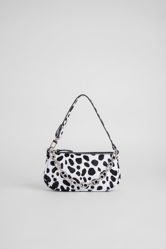 Mini Rachel Dalmatian-Print Pony Hair Leather